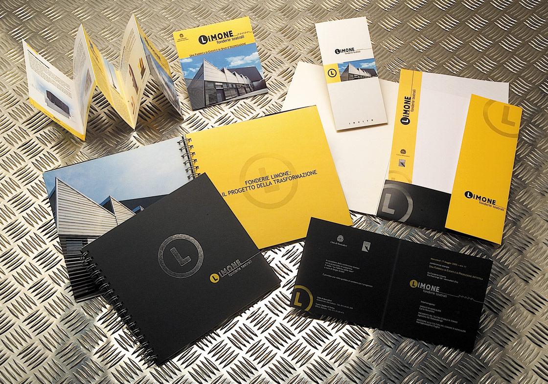 immagine coordinata brochure fonderie limone
