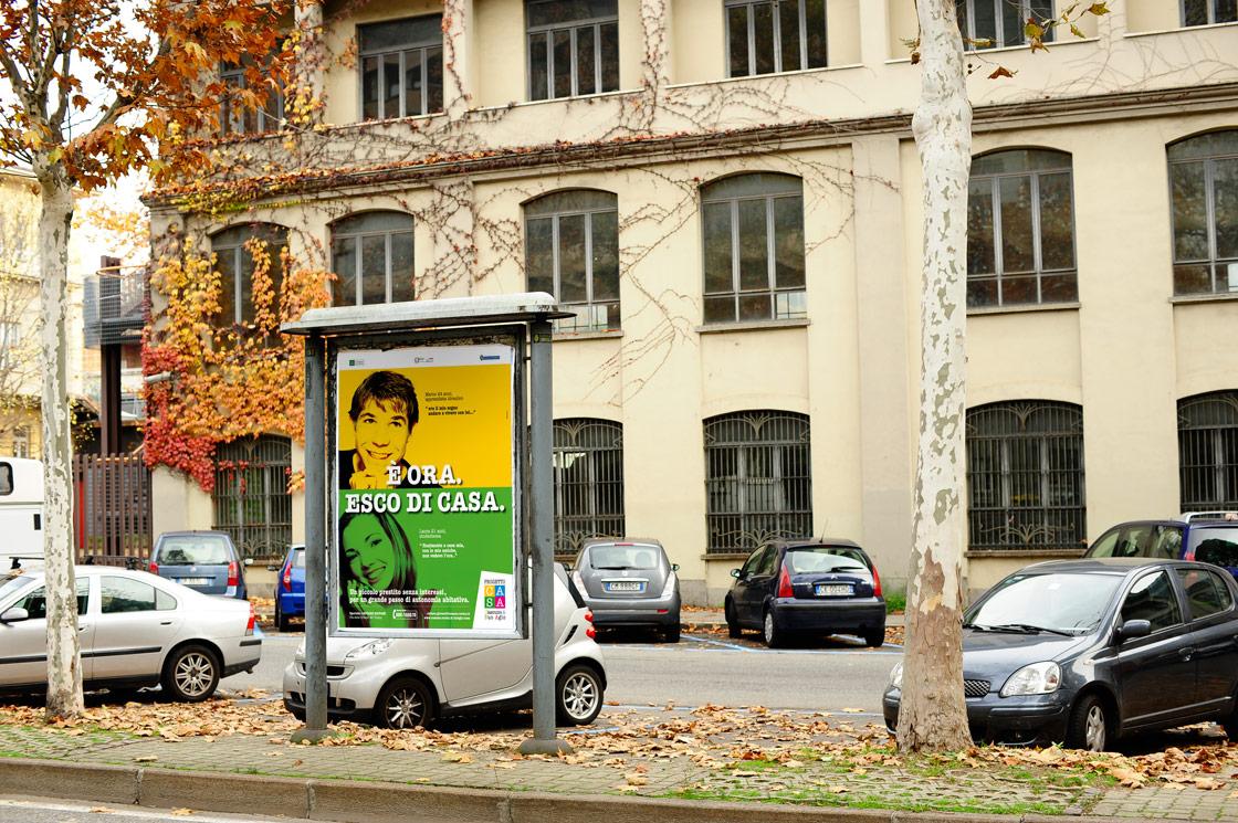 affissione campagna pubblicitaria progetto casa